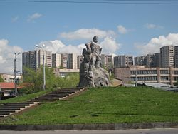The statue of Kevork Chavush in Ajapnyak