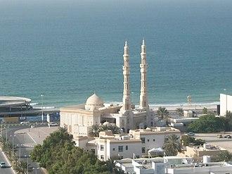 Ajman - Image: Ajman corniche mosque. panoramio