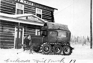 Alaska Road Commission - Carlson's mail truck. 1919.