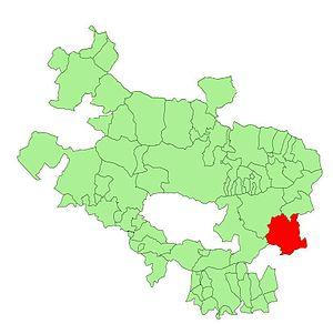 Campezo/Kanpezu - Location of Kanpezu within Álava Province
