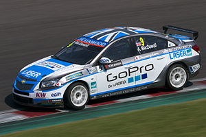 Alex MacDowall - MacDowall competing in the 2013 World Touring Car Championship.