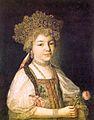 Alexandra Pavlovna of Russia in Russian dress by anonim (1790s, GRM).jpg