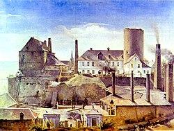 Alfred Rethel: The Factory Mechanische Werkstätten Harkort & Co. in Wetter Castle