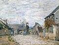 Alfred Sisley (1839-1899) - La petite place, la rue du village - ABDAG000505 - Aberdeen Art Gallery.jpg
