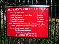 All Saints Church, Fulham, Sign - geograph.org.uk - 1039060.jpg