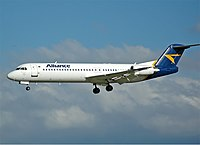 Alliance Airlines Fokker 100 CBR Gilbert.jpg