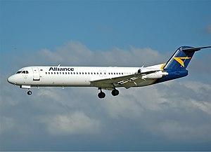 Alliance Airlines Fokker 100 CBR Gilbert.jpg