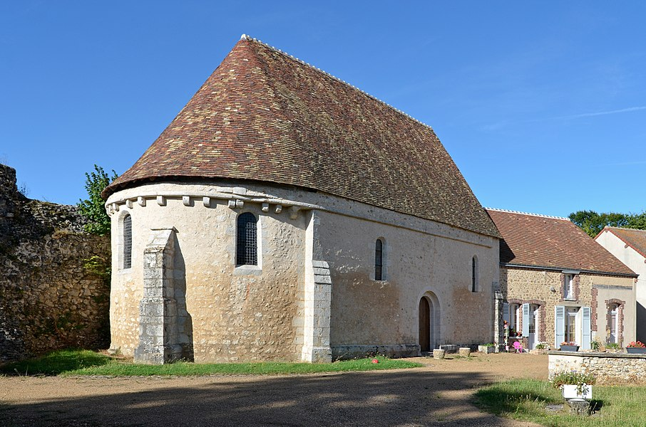 Saint Nicolas chapel of Alluyes castle - Eure-et-Loir, France.