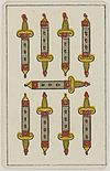 Aluette card deck - Grimaud - 1858-1890 - Nine of Swords.jpg