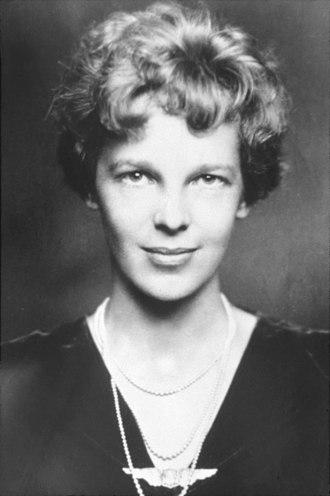 Amelia Earhart - Amelia Earhart in evening clothes