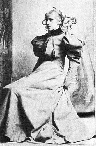 Miss Amelia Van Buren - A photograph of Van Buren by Thomas Eakins