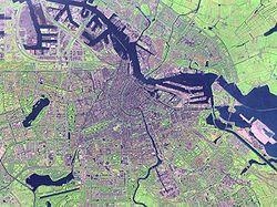 Δορυφορική εικόνα του Άμστερνταμ