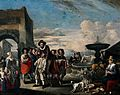 An Italian market-place with a tooth-drawer on horseback. Oi Wellcome V0017167.jpg