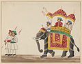 An elephant with double-canopied howdah.jpg