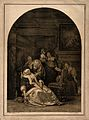 An ill woman collapsing, a maid rushes to her aid whilst her Wellcome V0016046.jpg