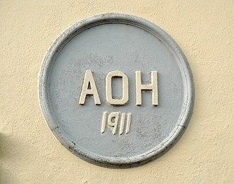 Ancient Order of Hibernians - AOH 1911 plaque, Kanturk, County Cork, Ireland