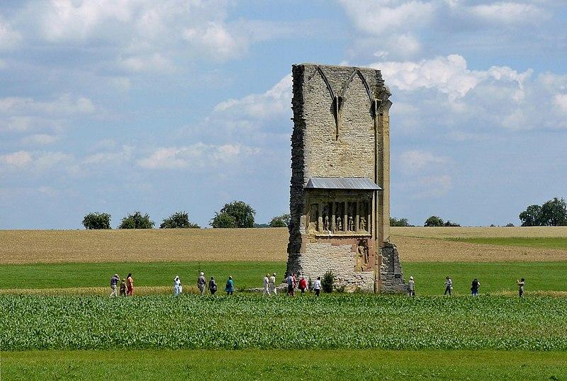 ALEMANIA: Ruinas del antiguo monasterio de Anhausen, cerca de Satteldorf, Baden-Württemberg