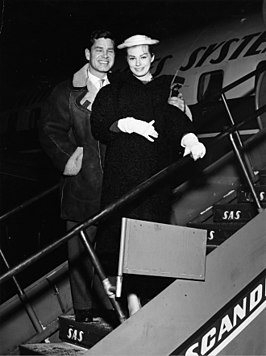 Anthony Steel en Anita Ekberg in 1956