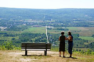 Nova Scotia - Looking over the narrowest part of the Annapolis Valley towards Bridgetown from Valleyview Provincial Park