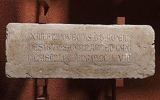 Épitaphe d'Amelius de Sanars