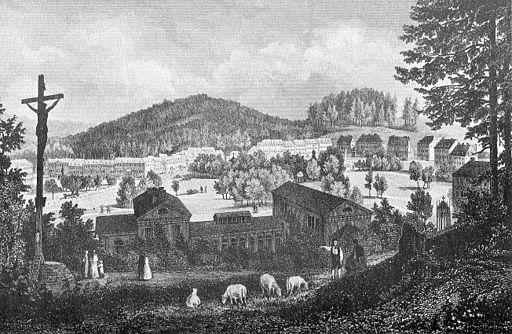 Ansicht Marienbad um 1850