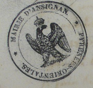 Ansignan - Seal of Ansignan in 1815