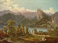 Anton Karinger - View of the Castle and Island with St Mary's Church on Lake Bled.jpg