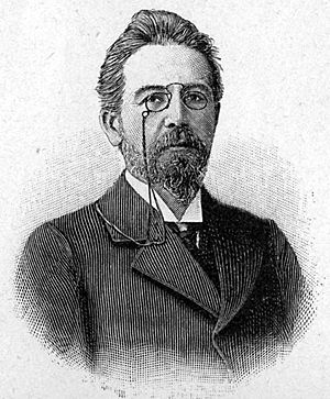 Chekhov in a 1905 illustration.
