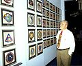Apollo 13 Astronaut Fred Haise and Apollo 13 Mission Patch DVIDS833737.jpg
