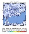 April 2010 Spain earthquake intensity USGS.jpg