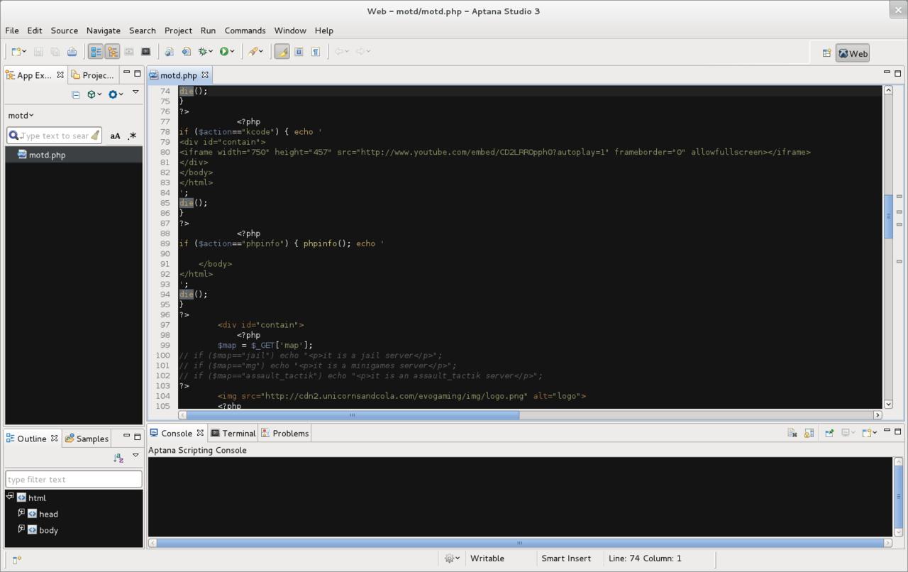 Aptana Studio Screenshot.png