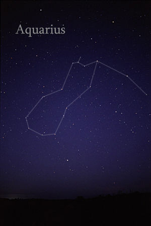 Aquarius (constellation) - The constellation Aquarius as it can be seen by the naked eye