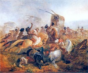 Desert Campaign (1833–34) - Indians attacking Argentine soldiers (gauchos from the militia)