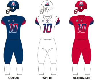 2016 Arizona Wildcats football team - Image: Arizwildcats uniforms 13