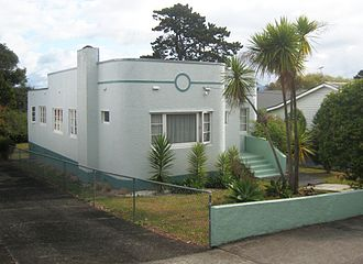 Waterview, New Zealand - Waterview contains a variety of house styles, including a small number of Art Deco bungalows.