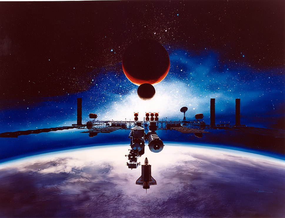 Artist%27s Conception of Space Station Freedom - GPN-2003-00092