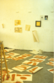 Artist's studio with oil and shellac drawings. Christopher Willard.png