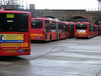 Ash Grove bus garage - Buses at Ash Grove