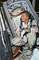Astronaut Frank Borman, command pilot for the Gemini-7 spaceflight, looks over the Gemini-7.jpg