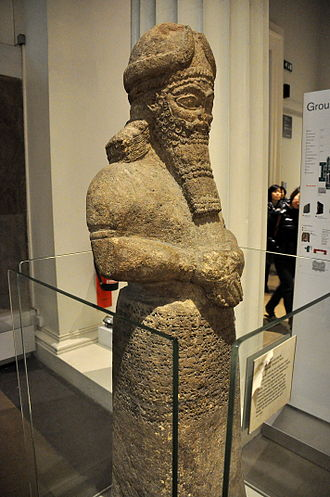 Nabu - Statue of the Attendant God from the Temple of Nabu at Nimrud, Mesopotamia on display at the British Museum.