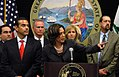 Attorney General Kamala D. Harris Announces Major Gang Arrests in Tracy June 09, 2011.jpg