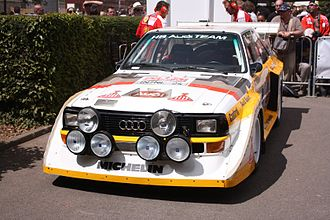 World Rally Championship - Group B Audi Quattro S1.