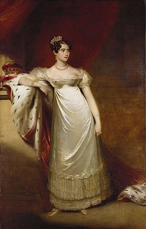 Duchess of Cambridge - Image: Augusta, Duchess of Cambridge Beechey 1818