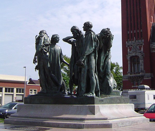 Auguste Rodin-Burghers of Calais (photo)
