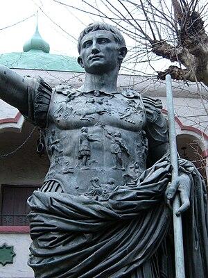 Augustus of Prima Porta replica Rosicrucian Park closeup
