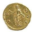 Aureus van Faustina II onder Antoninus Pius in goud, 147 tot 150 NC, vindplaats- Onbekend, collectie Gallo-Romeins Museum Tongeren, ST 1046.jpg