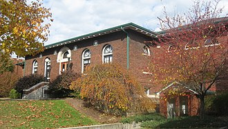 National Register of Historic Places listings in Dearborn County, Indiana - Image: Aurora Public Library, Indiana
