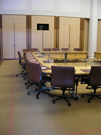 Australian Senate committees - A Senate committee room in Parliament House, Canberra