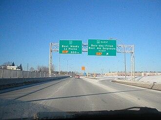 Quebec Autoroute 25 - Autoroute 25 in Terrebonne