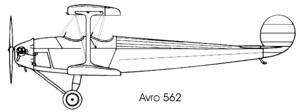 Avro Avis - Image: Avro 562 avis left